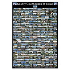 Texas County Courthouses Large Vertical Framed Print