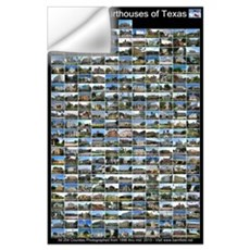 Texas County Courthouses Large Vertical Wall Decal