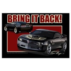 Bring It Back In Black Canvas Art