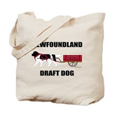 Landseer Draft Dog Tote Bag
