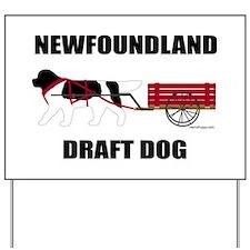 Landseer Draft Dog Yard Sign