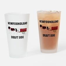 Landseer Draft Dog Drinking Glass