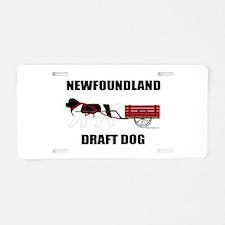 Landseer Draft Dog Aluminum License Plate