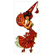 Halloween Party Girl Big 11x17 Print Poster