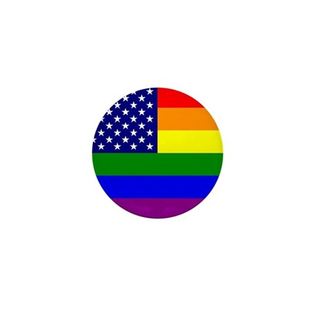 USA Gay Pride Flag Mini Button (10 pack)