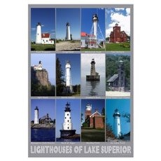Lighthouses of Lake Superior Canvas Art