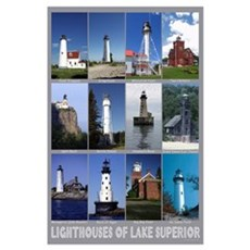 Lighthouses of Lake Superior Poster