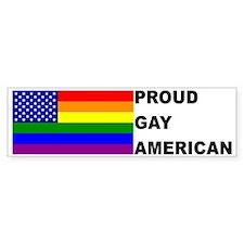 USA Gay Pride Flag Bumper Car Car Sticker