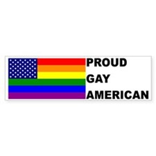 USA Gay Pride Flag Bumper Car Sticker