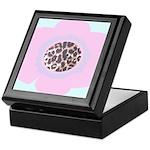 Light Pink Flower Leopard Print Keepsake Box