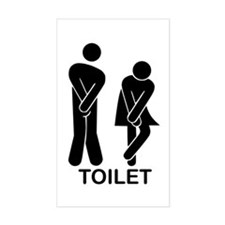 Funny Toilet Sign Decal