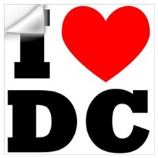 I Love DC Wall Decal