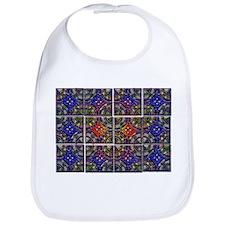 twelve part pattern tile desi Bib