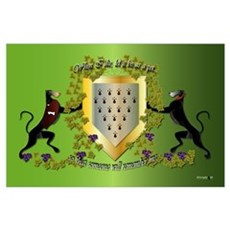 Greyhound Coat of Arms A Poster