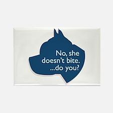 SHE doesn't bite! Rectangle Magnet (100 pack)