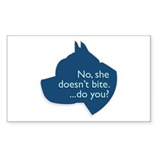 SHE doesn't bite! Rectangle Decal