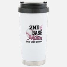Second 2nd Base Breast Cancer Stainless Steel Trav