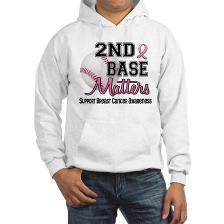 Second 2nd Base Breast Cancer Hooded Sweatshirt