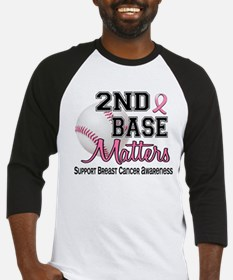 Second 2nd Base Breast Cancer Baseball Jersey