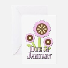 Due in January Expectant Mother Greeting Card