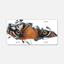 Tiger Eyes Aluminum License Plate