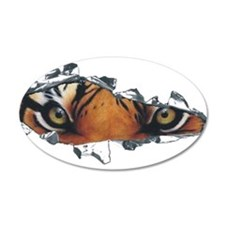 Tiger Eyes 38.5 x 24.5 Oval Wall Peel