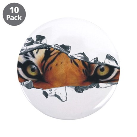 """Tiger Eyes 3.5"""" Button (10 pack)"""