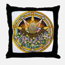 Ostara Pentacle Throw Pillow