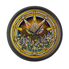 Ostara Pentacle Large Wall Clock