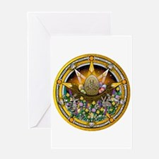 Ostara Pentacle Greeting Card
