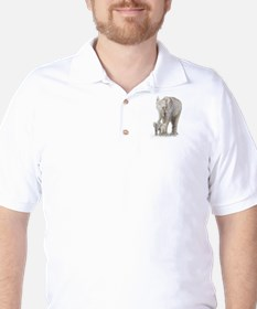 Mother and baby elephant Golf Shirt
