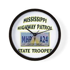 Mississippi Highway Patrol Wall Clock