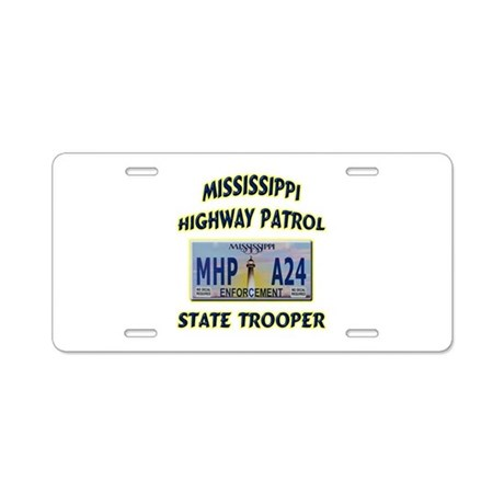 Mississippi Highway Patrol Aluminum License Plate
