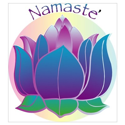 Namaste and Lotus Poster