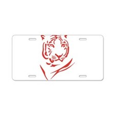 Red Tiger Aluminum License Plate