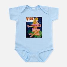 Wink Hot Blonde Girl in Pink Infant Bodysuit