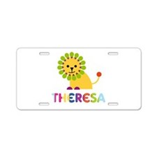 Theresa the Lion Aluminum License Plate