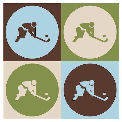Field Hockey Pop Art Poster