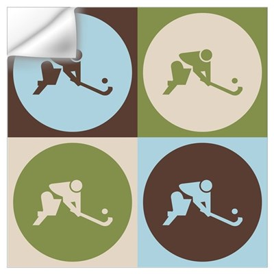 Field Hockey Pop Art Wall Decal