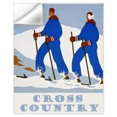 Cross Country Skiing Vintage Wall Decal