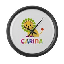 Carina the Lion Large Wall Clock
