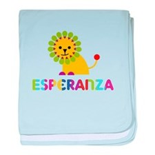 Esperanza the Lion baby blanket