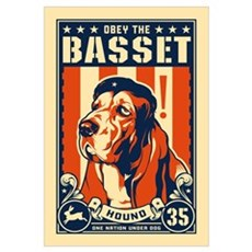 Obey the Basset Hound! USA Framed Print
