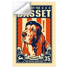 Obey the Basset Hound! USA Wall Decal
