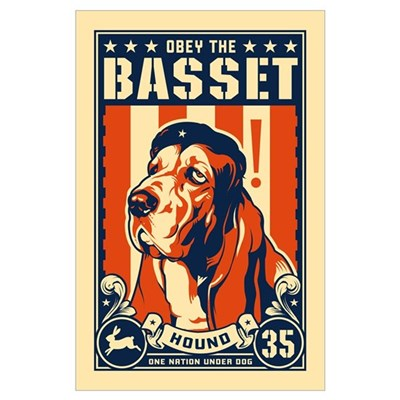 Obey the Basset Hound! USA Poster