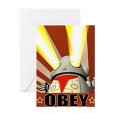 OBEY Version 1 Greeting Card