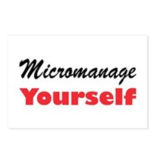 Micromanage Yourself Postcards (Package of 8)