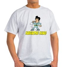 Karaoke King Cartoon Shirt T-Shirt
