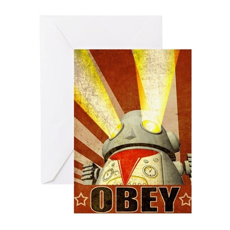 OBEY Version 2 Greeting Cards (Pk of 20)