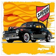 Speed '48 Ford Poster
